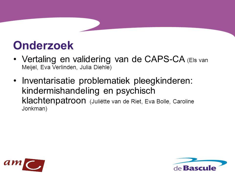Onderzoek Vertaling en validering van de CAPS-CA (Els van Meijel, Eva Verlinden, Julia Diehle)
