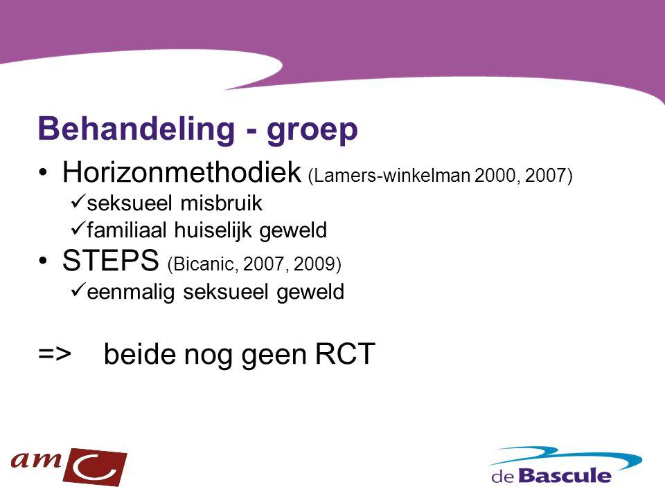 Behandeling - groep Horizonmethodiek (Lamers-winkelman 2000, 2007)