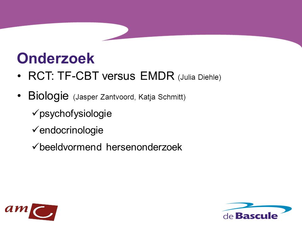 Onderzoek RCT: TF-CBT versus EMDR (Julia Diehle)