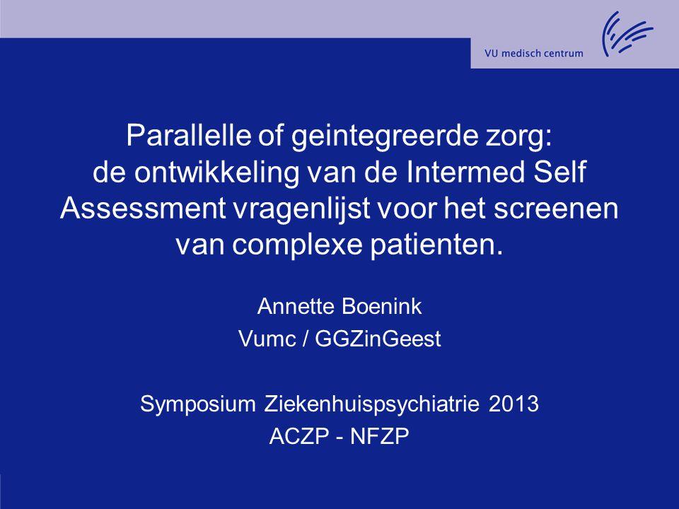 Symposium Ziekenhuispsychiatrie 2013