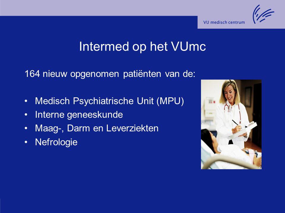 Intermed op het VUmc 164 nieuw opgenomen patiënten van de:
