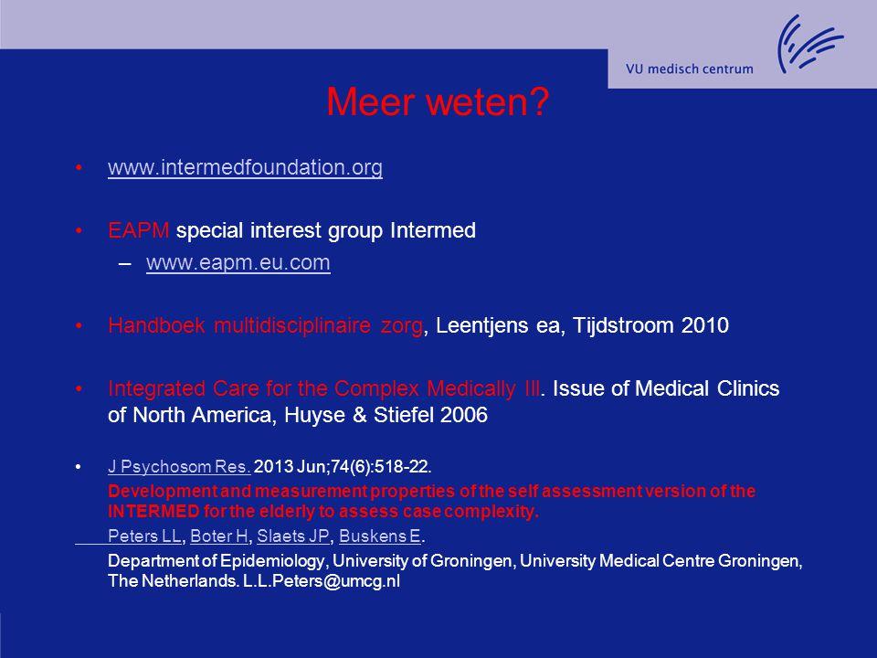 Meer weten www.intermedfoundation.org