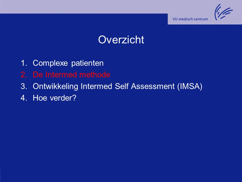Overzicht Complexe patienten De Intermed methode