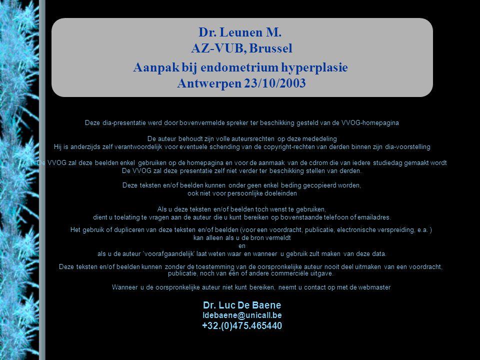 Aanpak bij endometrium hyperplasie