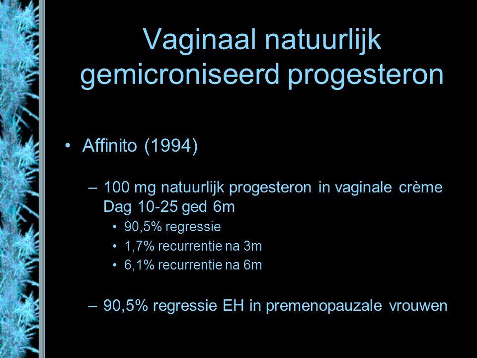 Vaginaal natuurlijk gemicroniseerd progesteron