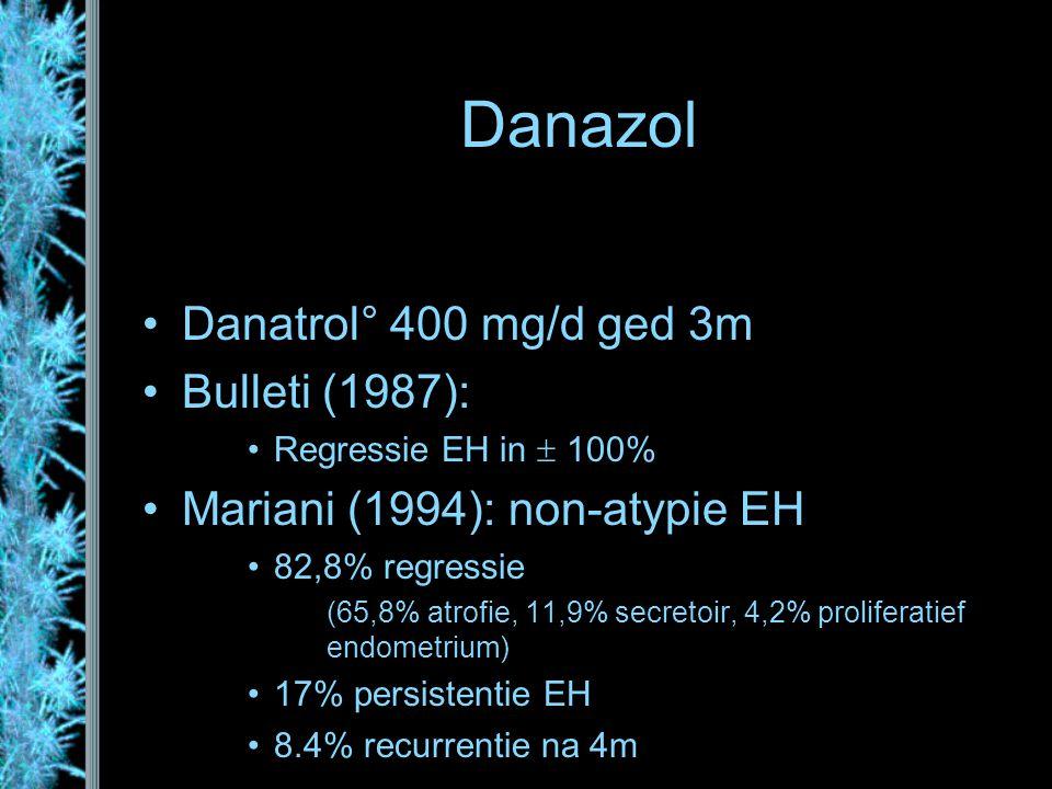 Danazol Danatrol° 400 mg/d ged 3m Bulleti (1987):