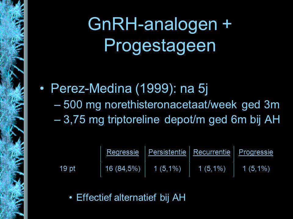 GnRH-analogen + Progestageen