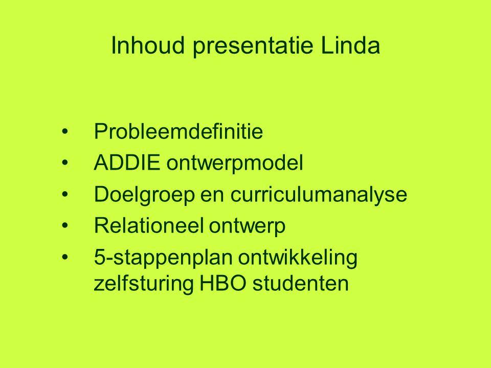 Inhoud presentatie Linda