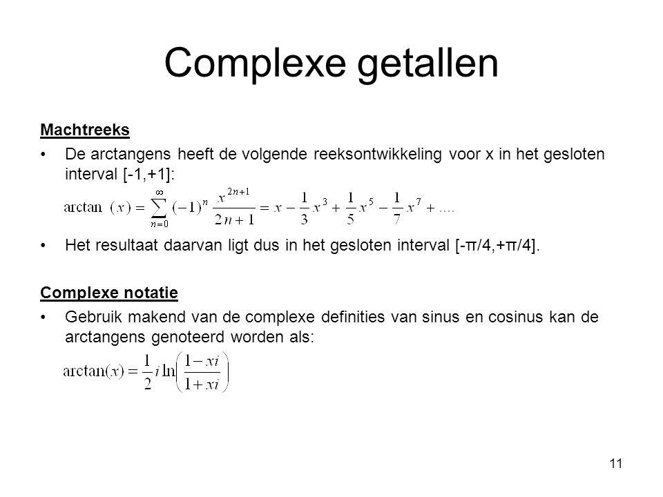 Complexe getallen Machtreeks