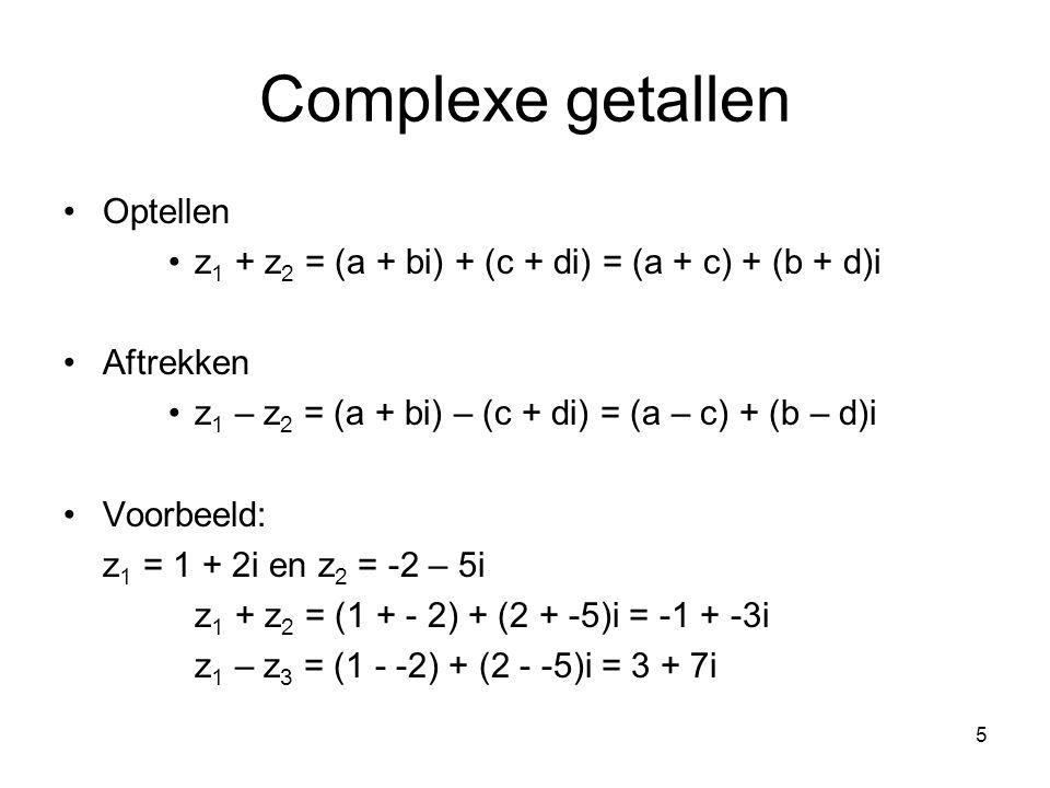 Complexe getallen Optellen