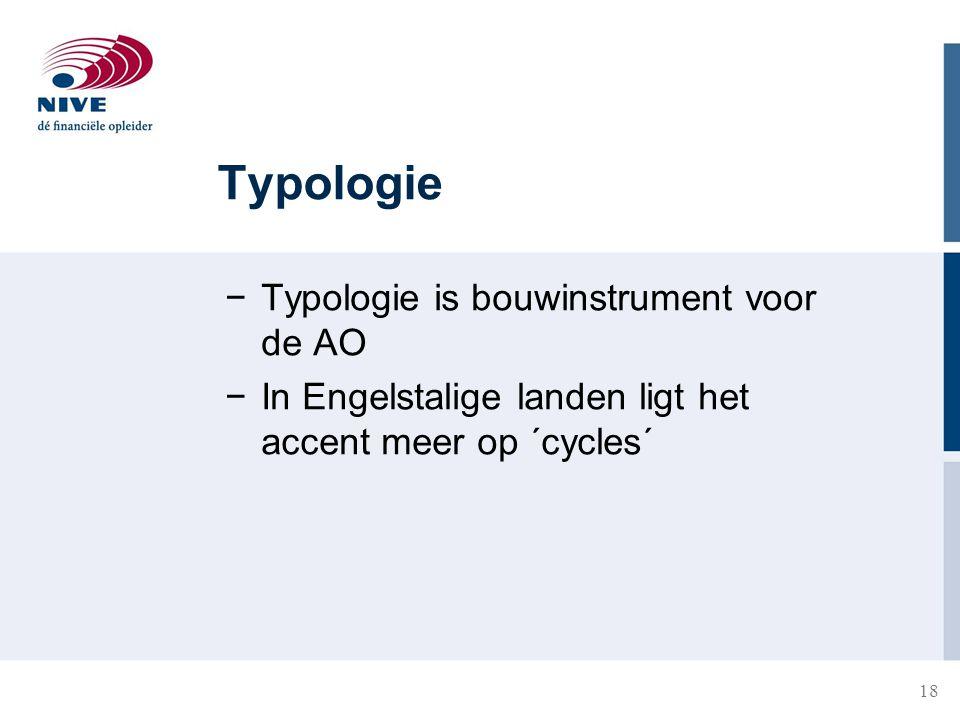 Typologie Typologie is bouwinstrument voor de AO