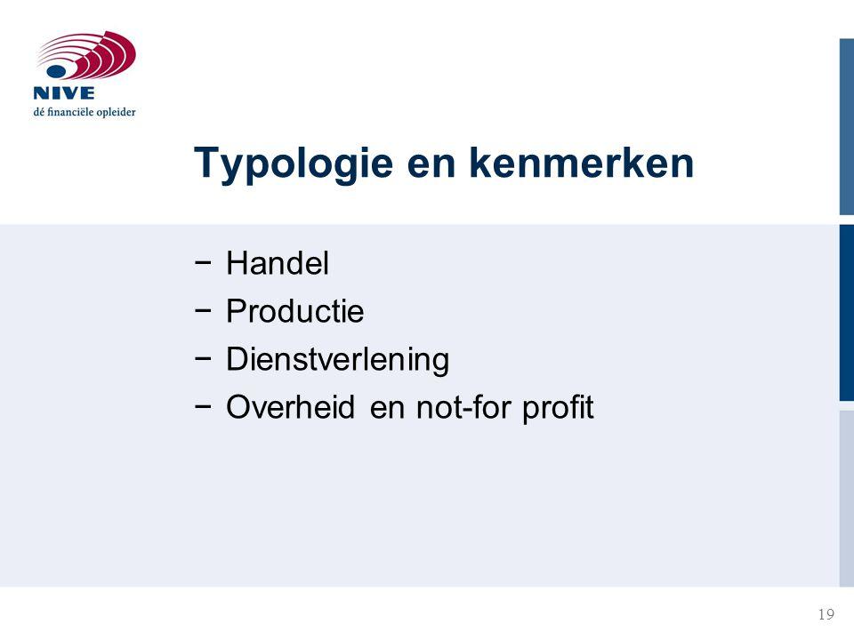 Typologie en kenmerken