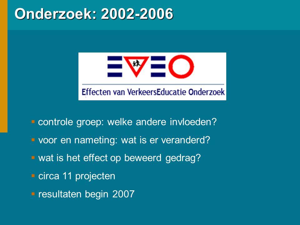 Onderzoek: 2002-2006 controle groep: welke andere invloeden