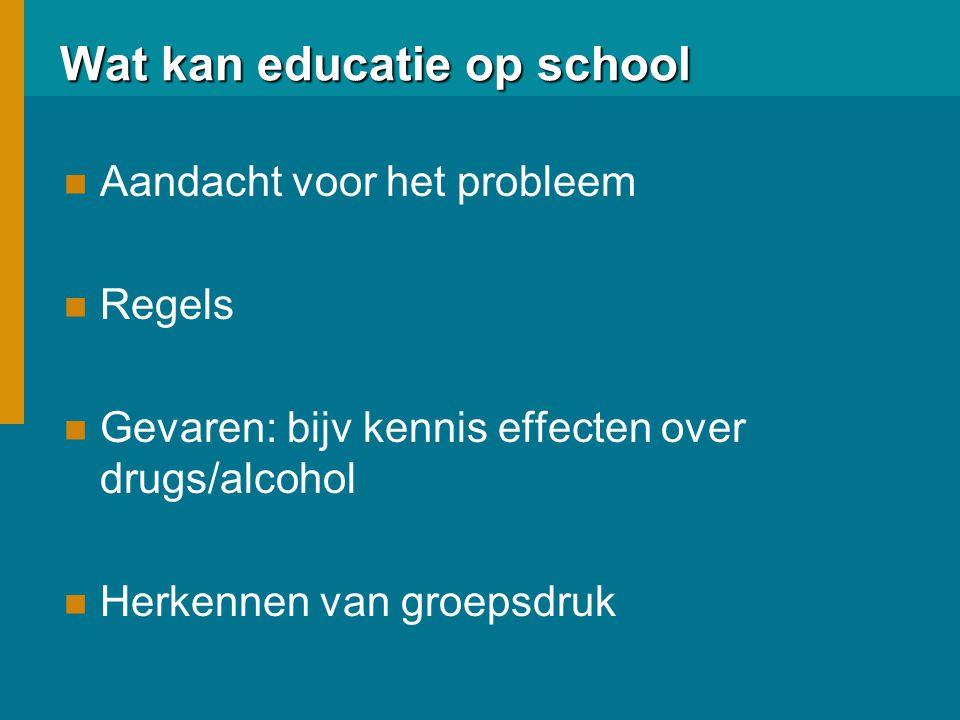Wat kan educatie op school