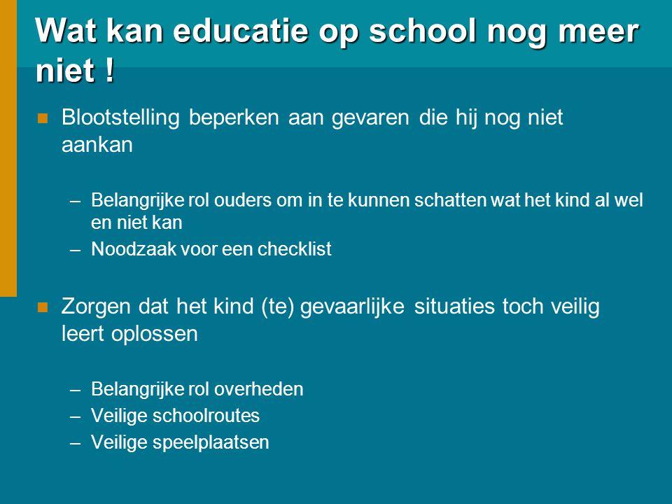 Wat kan educatie op school nog meer niet !