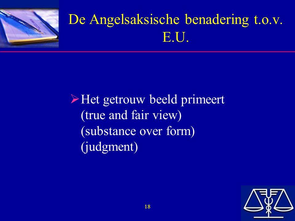 De Angelsaksische benadering t.o.v. E.U.