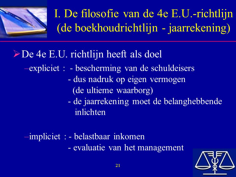 I. De filosofie van de 4e E. U