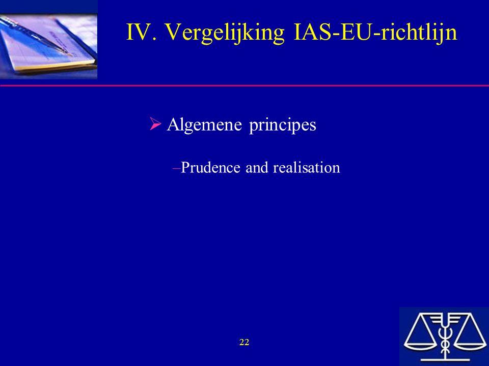 IV. Vergelijking IAS-EU-richtlijn
