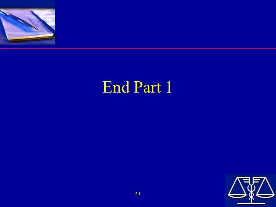 End Part 1 41