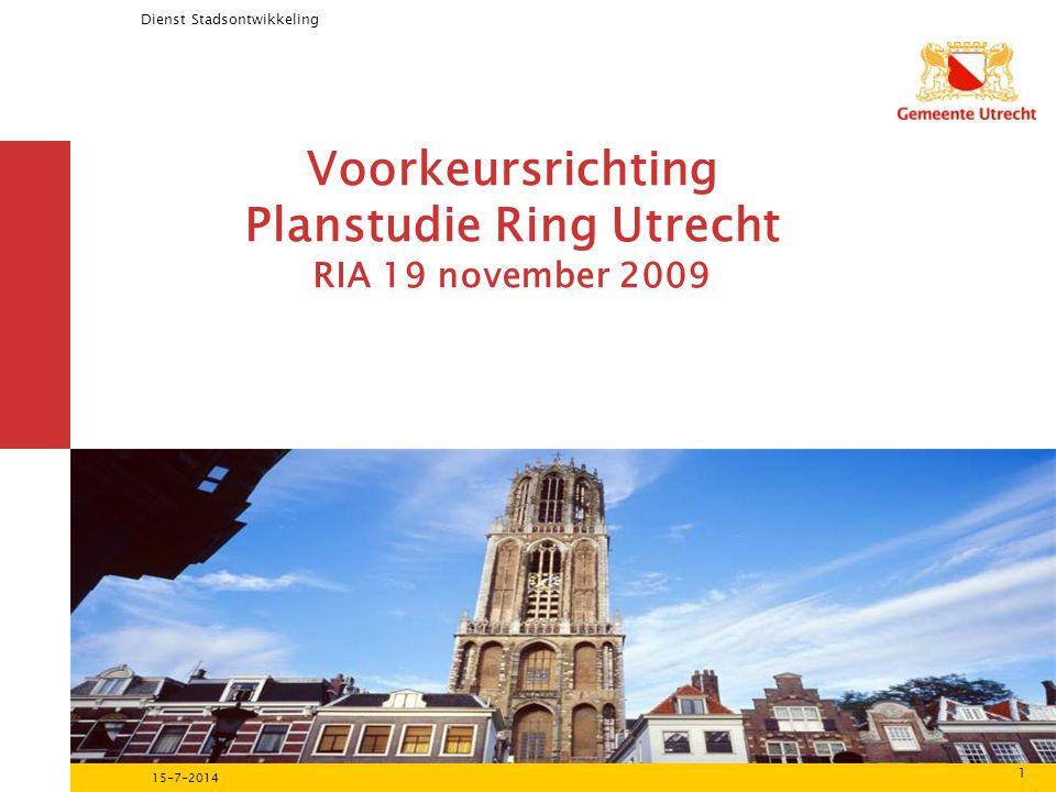 Voorkeursrichting Planstudie Ring Utrecht RIA 19 november 2009