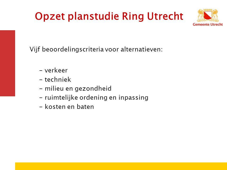Opzet planstudie Ring Utrecht