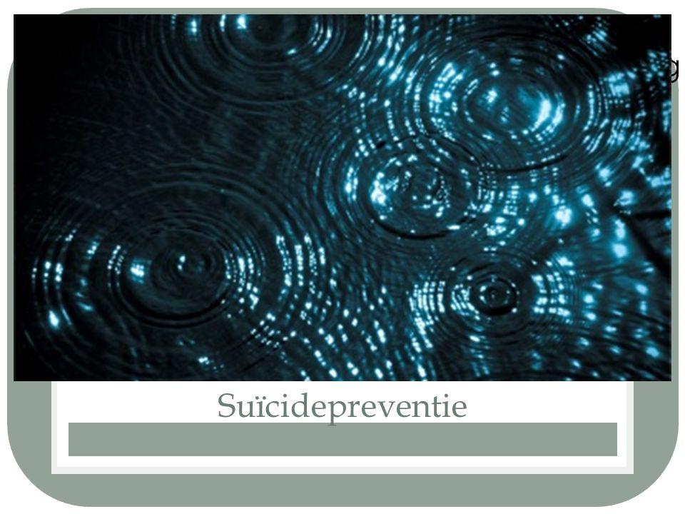 Suïcidepreventie Zelfdoding is een cirkel met veel raakvlakken.