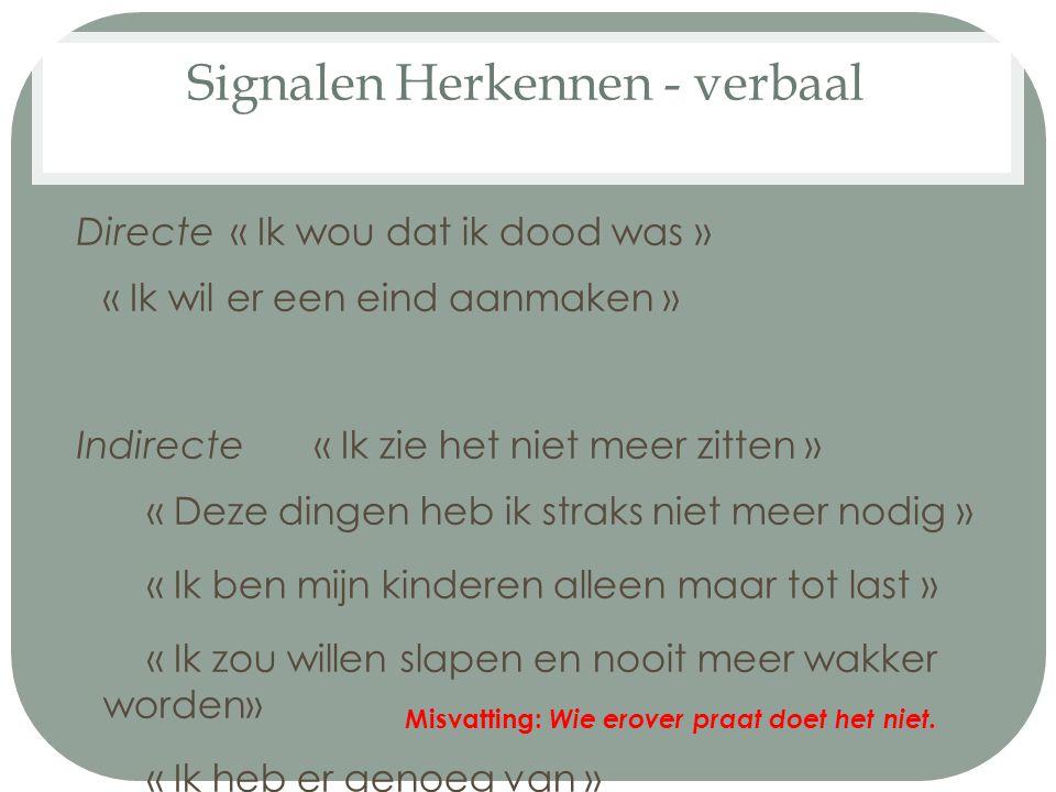 Signalen Herkennen - verbaal