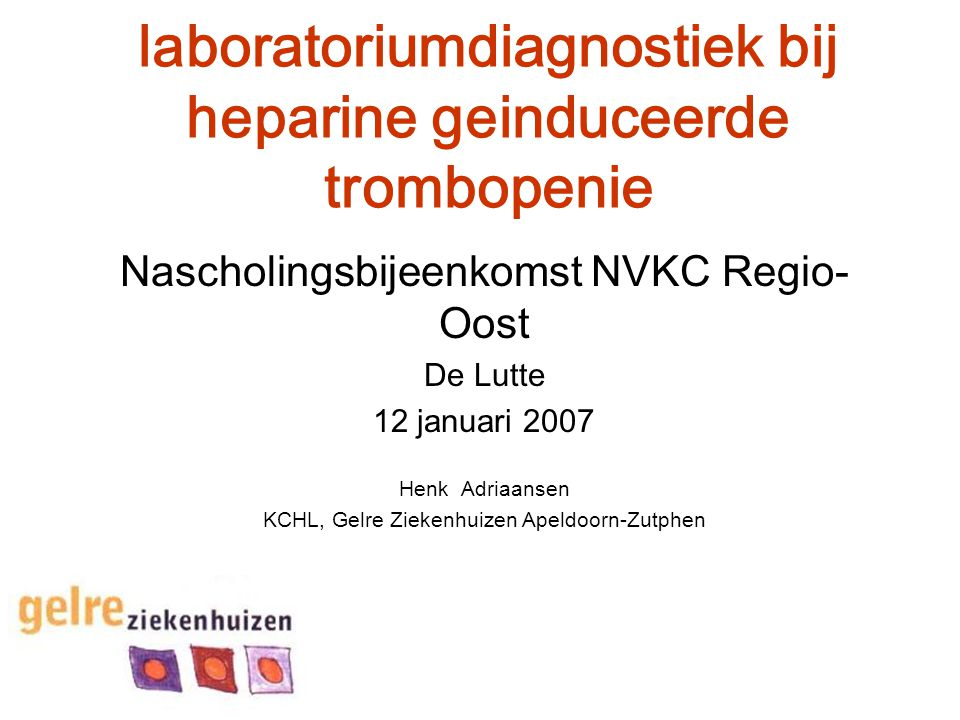 laboratoriumdiagnostiek bij heparine geinduceerde trombopenie