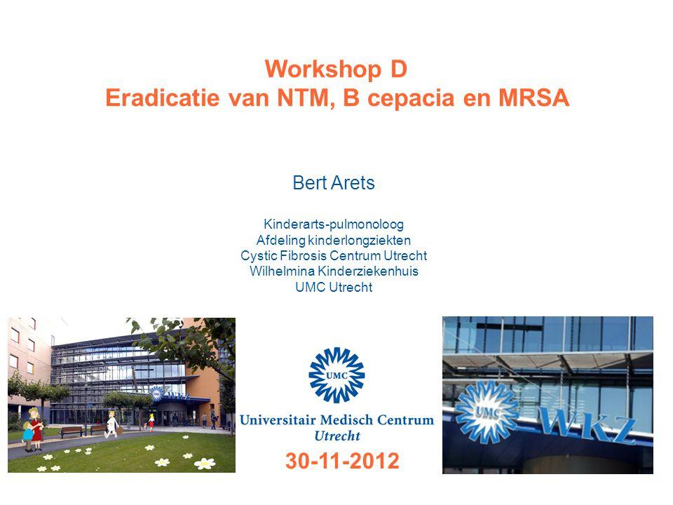 Eradicatie van NTM, B cepacia en MRSA