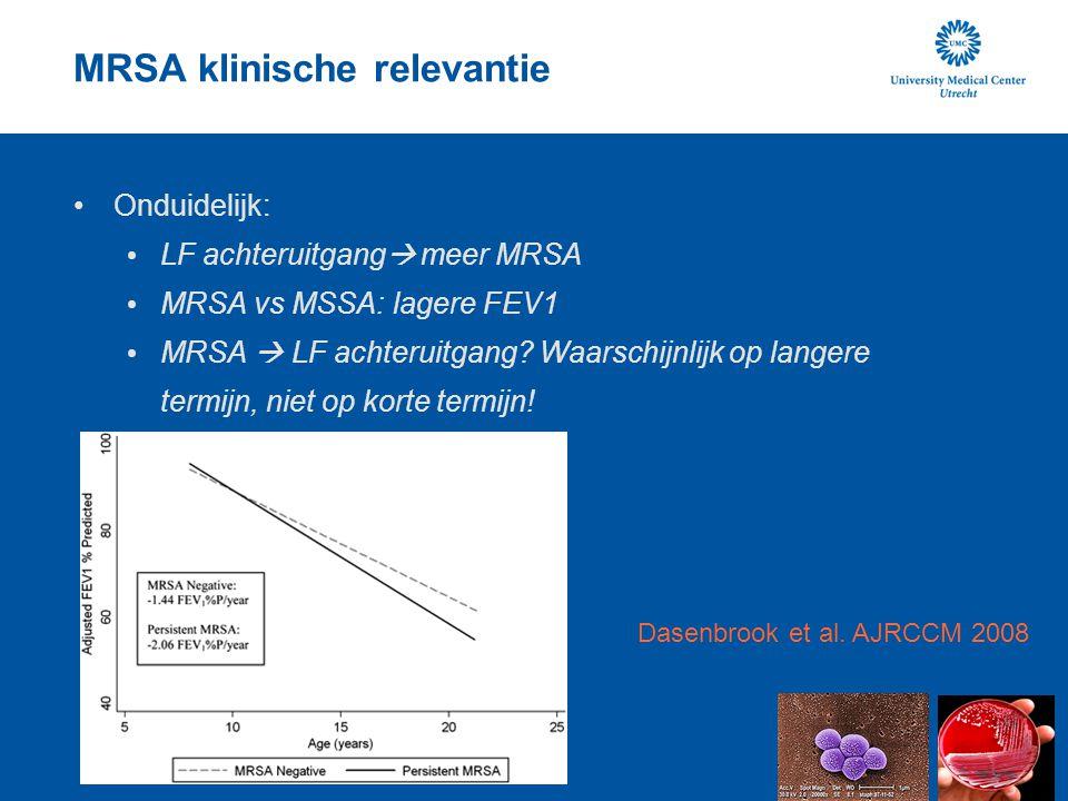 MRSA klinische relevantie