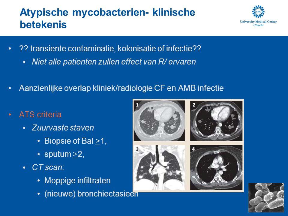 Atypische mycobacterien- klinische betekenis