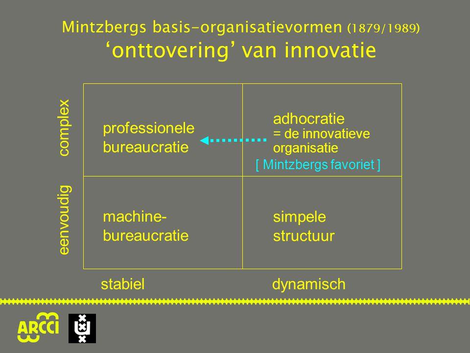 professionele bureaucratie eenvoudig complex