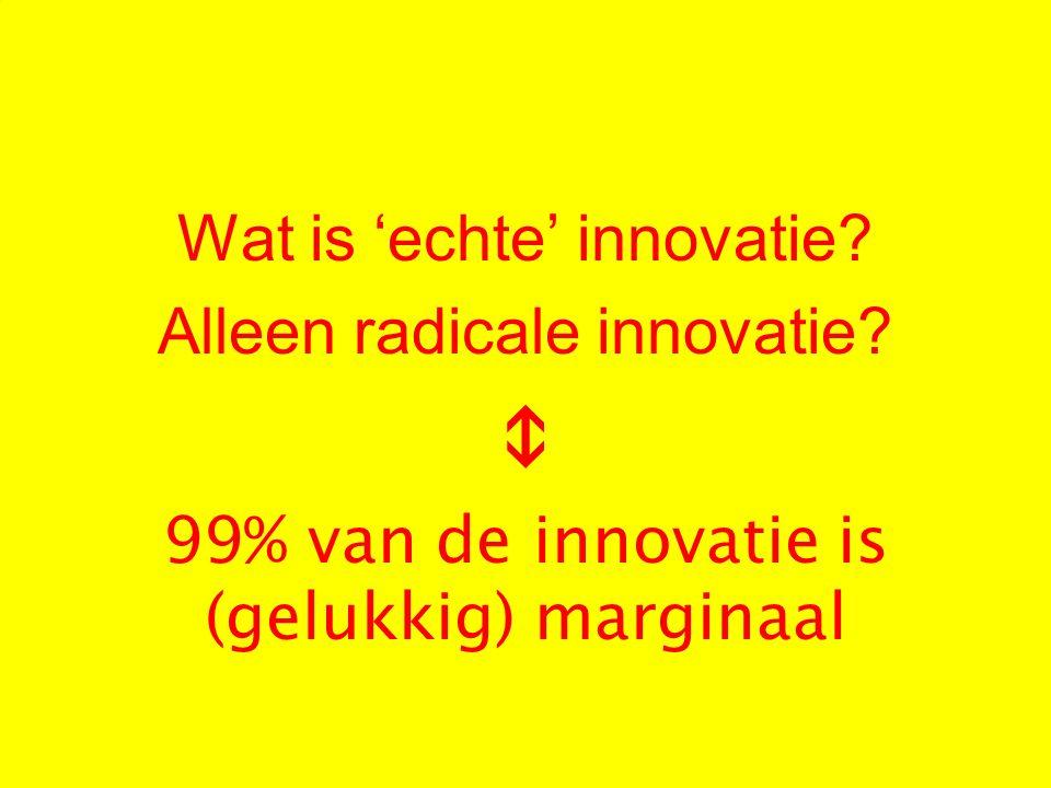 Wat is 'echte' innovatie Alleen radicale innovatie