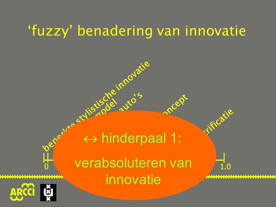 'fuzzy' benadering van innovatie