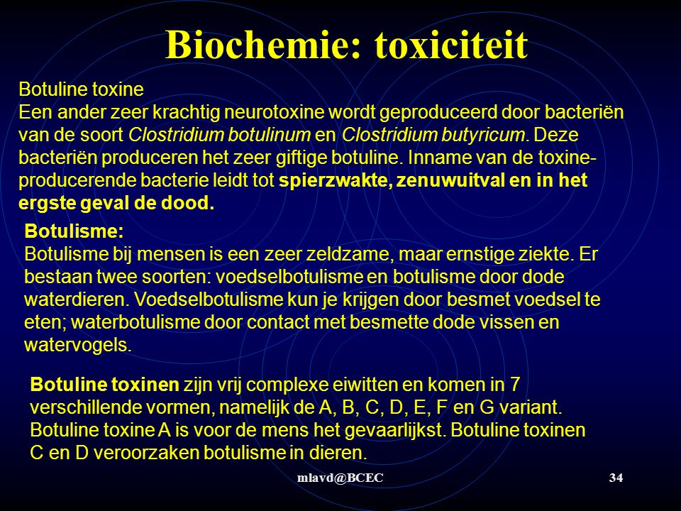 Biochemie: toxiciteit