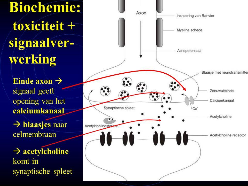 Biochemie: toxiciteit + signaalver- werking