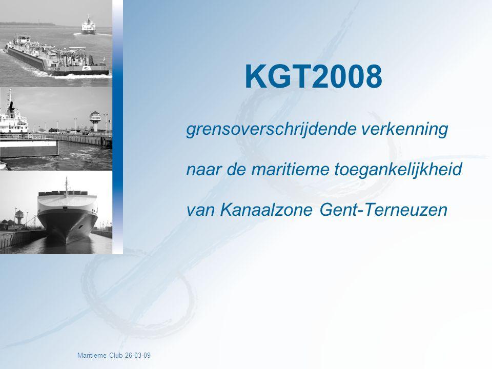KGT2008 grensoverschrijdende verkenning naar de maritieme toegankelijkheid van Kanaalzone Gent-Terneuzen.