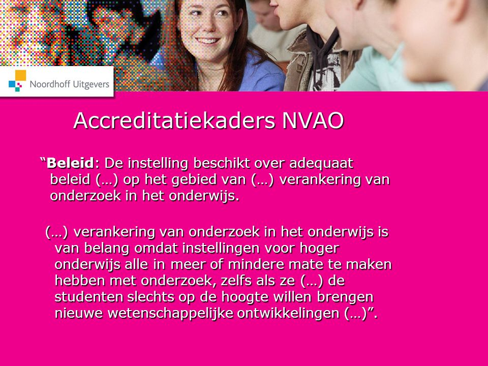 Accreditatiekaders NVAO