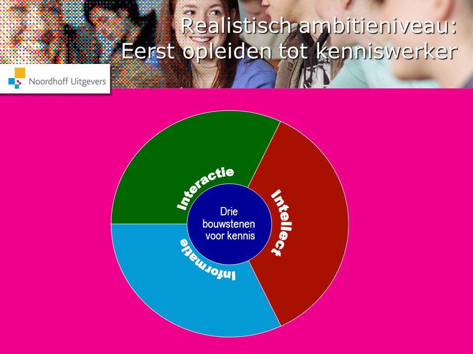 Realistisch ambitieniveau: Eerst opleiden tot kenniswerker