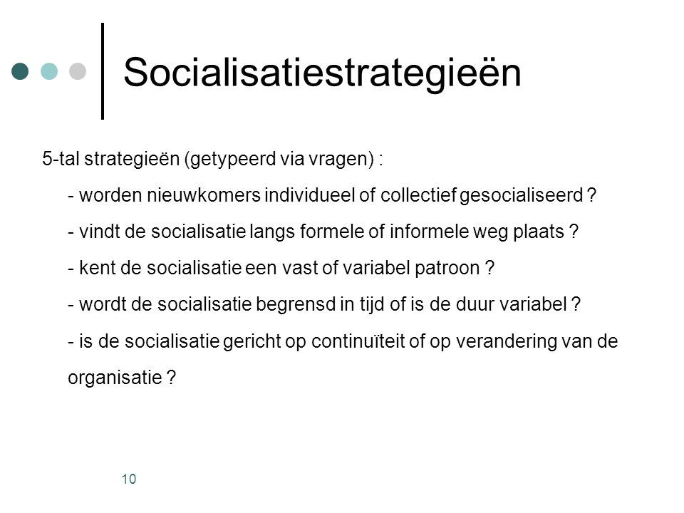 Socialisatiestrategieën