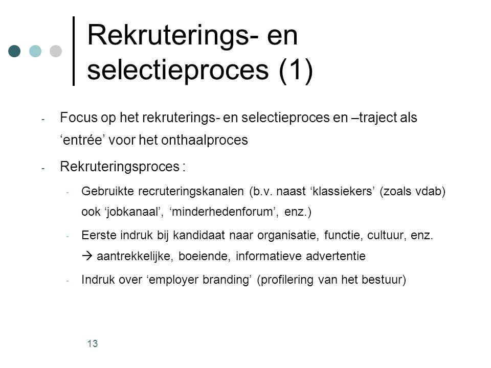 Rekruterings- en selectieproces (1)