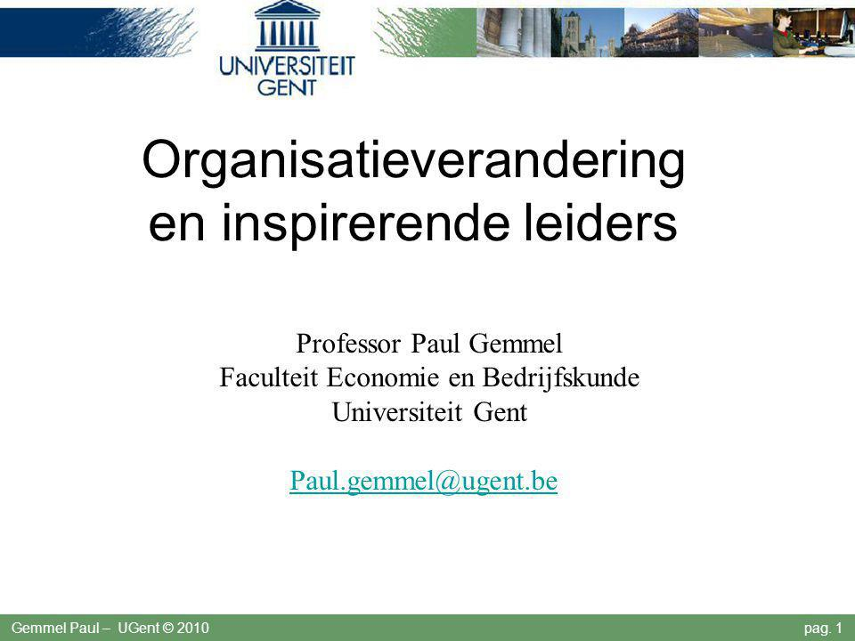 Organisatieverandering en inspirerende leiders