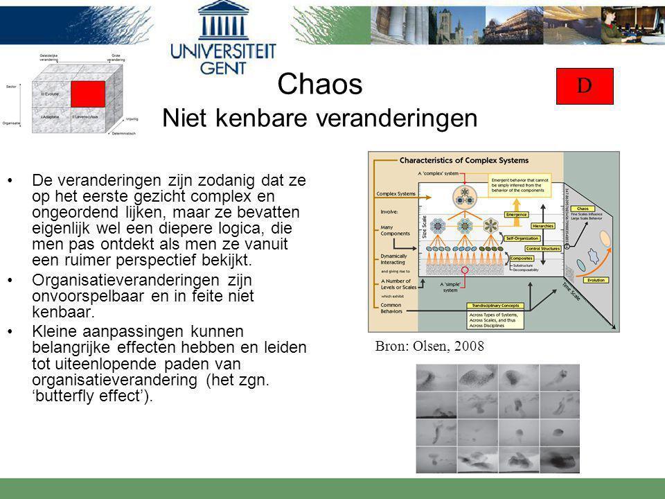 Chaos Niet kenbare veranderingen