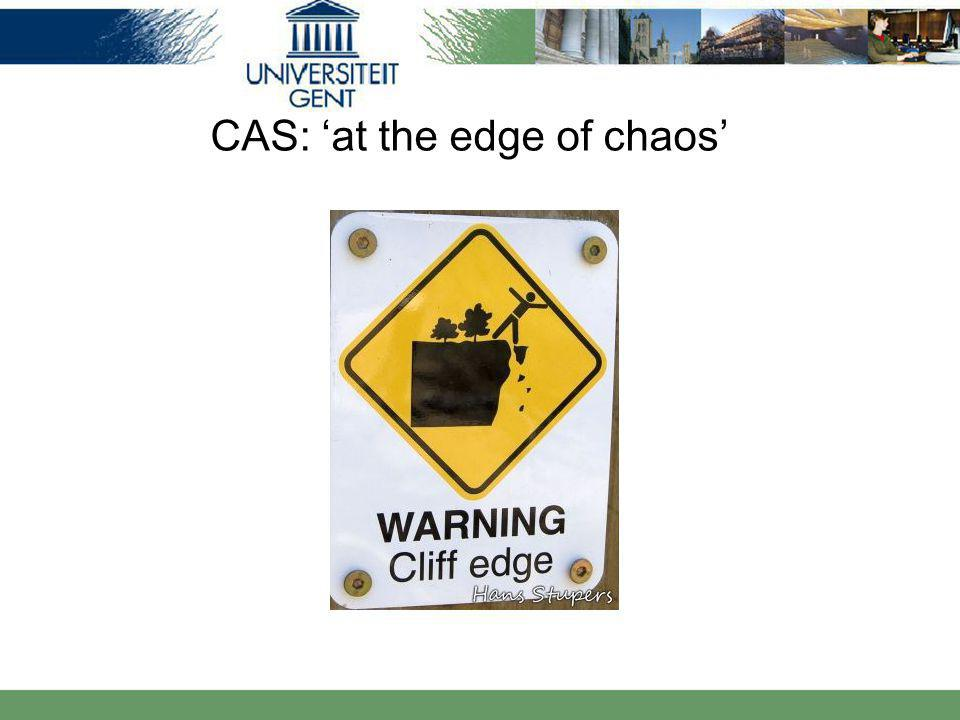 CAS: 'at the edge of chaos'