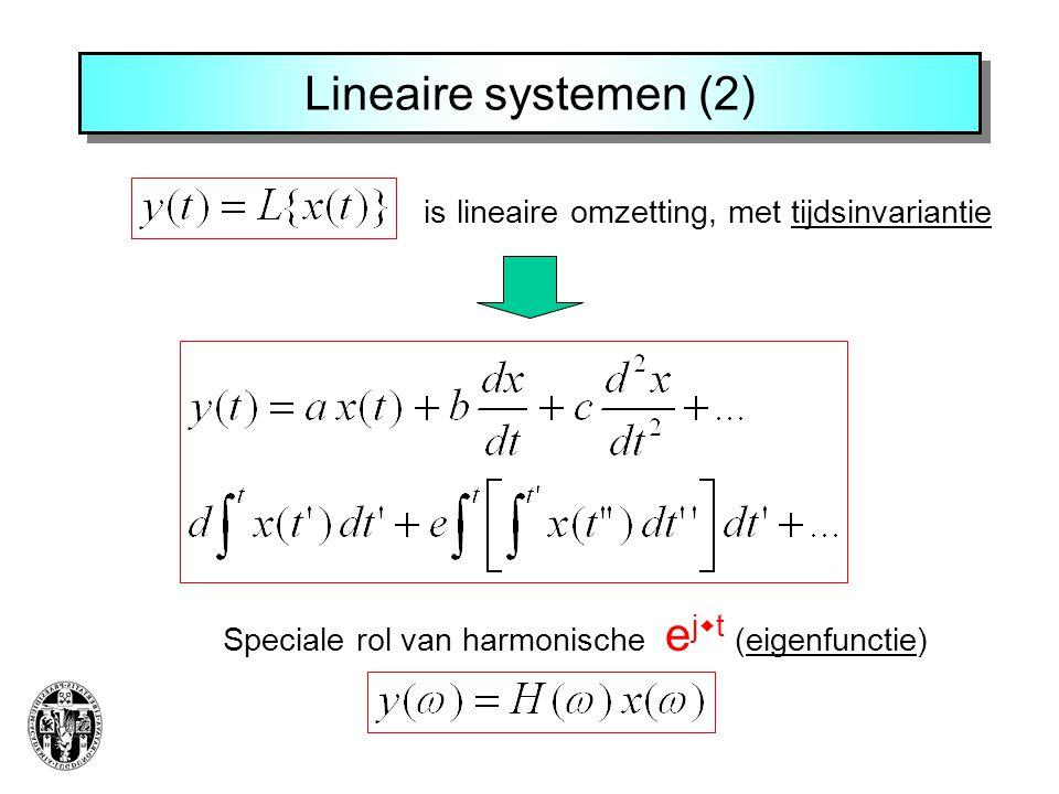 Lineaire systemen (2) is lineaire omzetting, met tijdsinvariantie