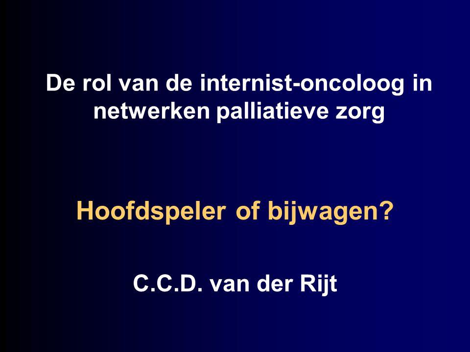 De rol van de internist-oncoloog in netwerken palliatieve zorg