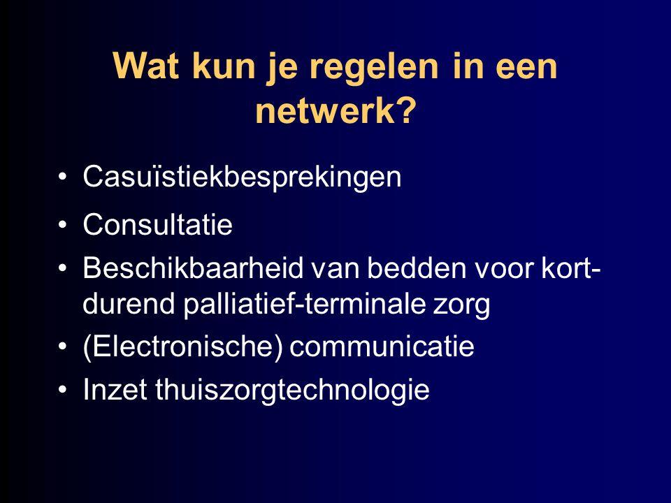 Wat kun je regelen in een netwerk
