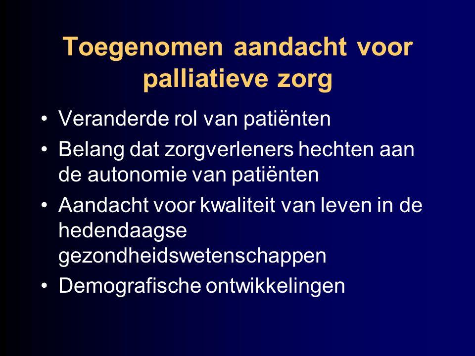 Toegenomen aandacht voor palliatieve zorg