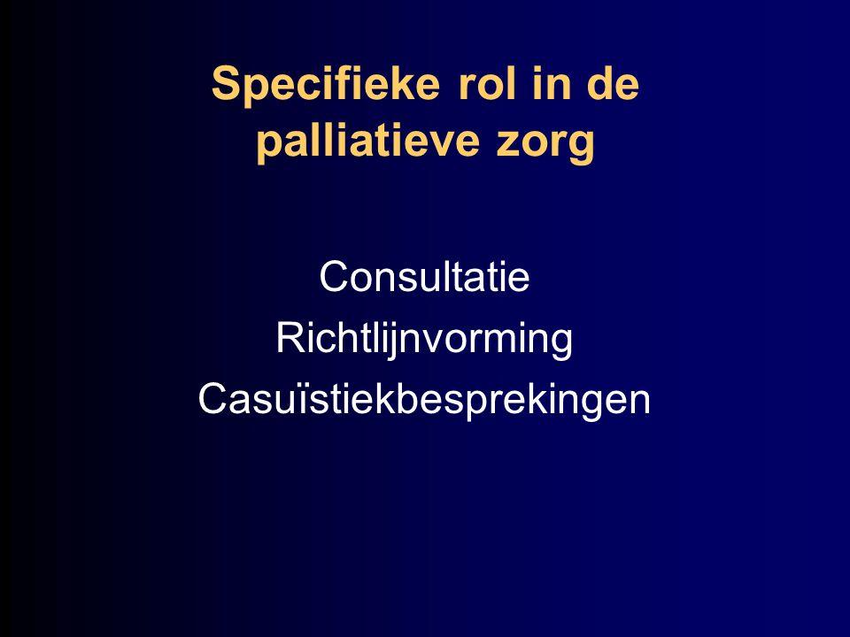 Specifieke rol in de palliatieve zorg