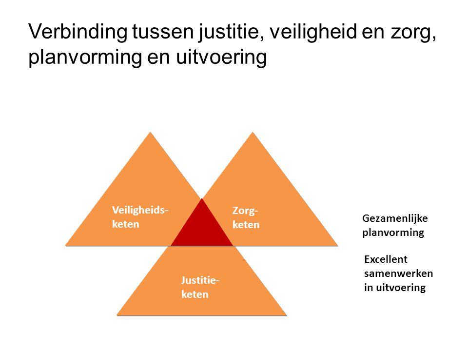 Verbinding tussen justitie, veiligheid en zorg, planvorming en uitvoering